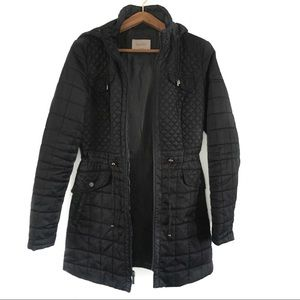LAUNDRY By Shelli Segal Black Quilted Jacket